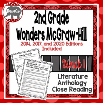 Wonders McGraw Hill 2nd Grade Close Reading (Literature Anthology Book) - Unit 1