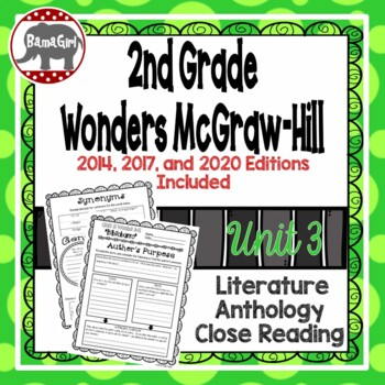 Wonders McGraw Hill 2nd Grade Close Reading (Literature Anthology Book) - Unit 3