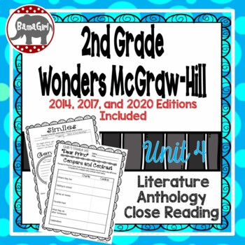Wonders McGraw Hill 2nd Grade Close Reading (Literature Anthology Book) - Unit 4