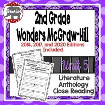Wonders McGraw Hill 2nd Grade Close Reading (Literature Anthology Book) - Unit 5
