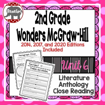 Wonders McGraw Hill 2nd Grade Close Reading (Literature Anthology Book) - Unit 6