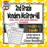 Wonders McGraw Hill 2nd Grade Close Reading Literature Anthology Unit 1-6 Bundle