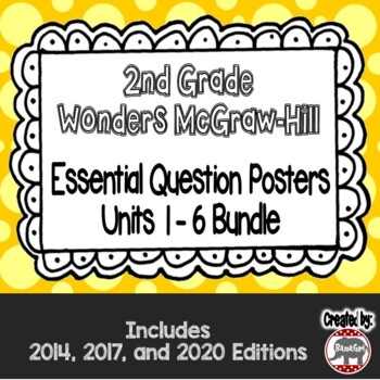 Wonders McGraw Hill 2nd Grade Essential Question Posters - Units 1-6 **Bundle**