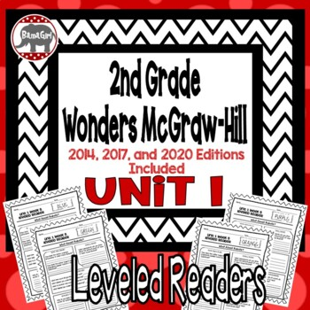 Wonders McGraw Hill 2nd Grade Leveled Readers Thinkmark - Unit 1