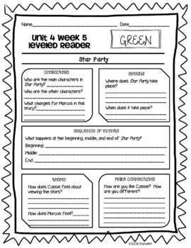 Wonders McGraw Hill 2nd Grade Leveled Readers Thinkmark - Unit 4