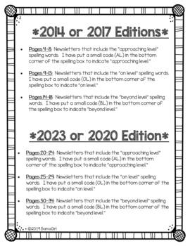 Wonders McGraw Hill 2nd Grade Newsletter/Study Guide - Units 1-6 **Bundle**