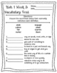 Wonders McGraw Hill 2nd Grade Vocabulary Tests - Unit 1