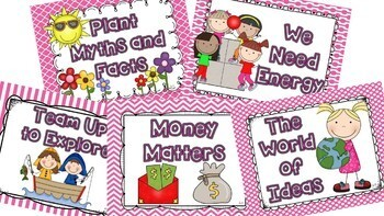 Wonders McGraw Hill 2nd Grade Weekly Concept Posters - Units 1-6 Bundle