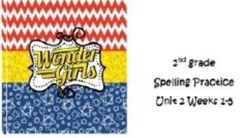 2nd grade Spelling Unit 2 Weeks 1-5 Practice