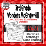 Wonders McGraw Hill 3rd Grade Close Reading (Literature Anthology Book) - Unit 1