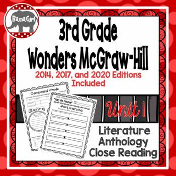 Wonders McGraw Hill 3rd Grade Close Reading (Literature Anthology Book) - Unit 1