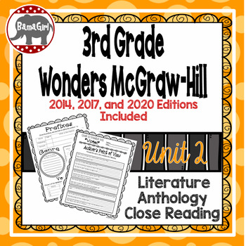 Wonders McGraw Hill 3rd Grade Close Reading (Literature Anthology Book) - Unit 2