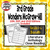 Wonders McGraw Hill 3rd Grade Close Reading Literature Anthology Unit 1-6 Bundle