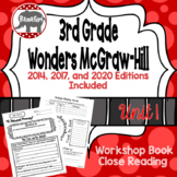Wonders McGraw Hill 3rd Grade Close Reading (Workshop Book) - Complete Unit 1