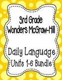 Wonders McGraw Hill 3rd Grade Daily Language - Units 1-6 **Bundle**