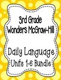 Wonders McGraw Hill 3rd Grade Daily Language - Units 1-6 **Bundle**