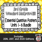 Wonders McGraw Hill 3rd Grade Essential Question Posters - Units 1-6 **Bundle**