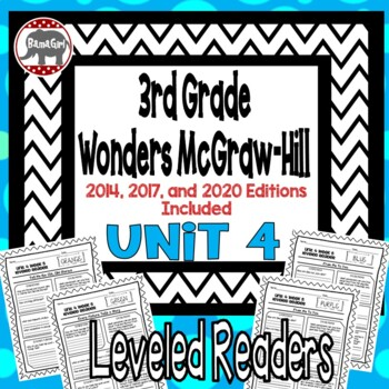 Wonders McGraw Hill 3rd Grade Leveled Readers Thinkmark - Unit 4