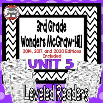 Wonders McGraw Hill 3rd Grade Leveled Readers Thinkmark - Unit 5