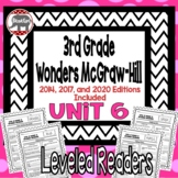 Wonders McGraw Hill 3rd Grade Leveled Readers Thinkmark - Unit 6