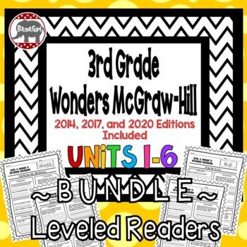 Wonders McGraw Hill 3rd Grade Leveled Readers Thinkmark - Units 1-6 *Bundle*