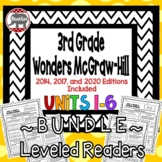 Wonders McGraw Hill 3rd Grade Leveled Readers Thinkmark - Units 1-6 *Bundle*