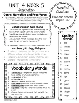 Wonders McGraw Hill 3rd Grade Newsletter/Study Guide - Unit 4 (Weeks 1-5)