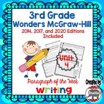 Wonders McGraw Hill 3rd Grade Paragraph of the Week - Unit 4