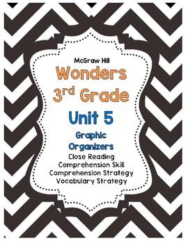 Wonders McGraw-Hill 3rd Grade Unit 5 Story Skills Reading Strategies Pack