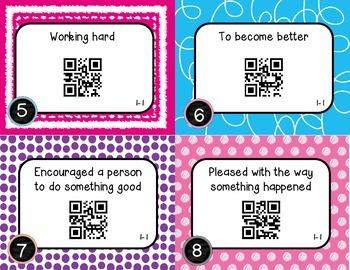 Wonders McGraw Hill 3rd Grade Vocabulary QR Code Flashcards - Unit 1