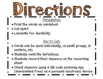 Wonders McGraw Hill 3rd Grade Vocabulary QR Code Flashcards - Unit 2