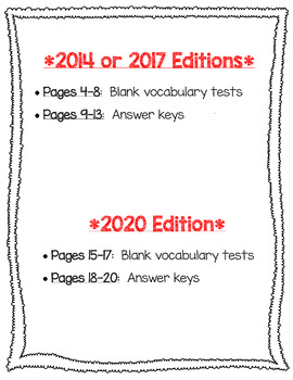 Wonders McGraw Hill 3rd Grade Vocabulary Tests - Unit 2