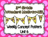 Wonders McGraw Hill 3rd Grade Weekly Concept Posters - Unit 6