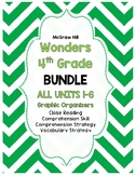 Wonders McGraw-Hill 4th Grade ALL Units 1-6 Reading Strategies BUNDLE