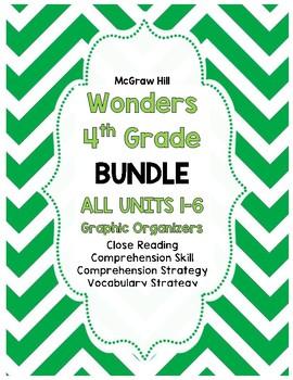 Wonders McGraw-Hill 4th Grade ALL Units 1-6 Reading Strategies BUNDLE