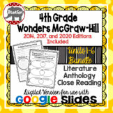 Wonders McGraw Hill 4th Grade Close Read Literature Anthology Units 1-6 DIGITAL