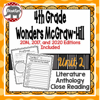 Wonders McGraw Hill 4th Grade Close Reading (Literature Anthology Book) - Unit 2