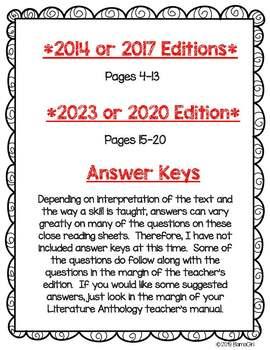 Wonders McGraw Hill 4th Grade Close Reading (Literature Anthology Book) - Unit 6