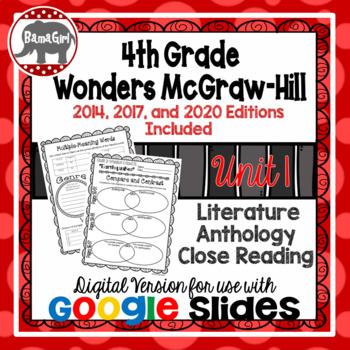 Wonders McGraw Hill 4th Grade Close Reading Literature Anthology Unit 1 DIGITAL