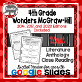 Wonders McGraw Hill 4th Grade Close Reading Literature Anthology Unit 1 DIGITAL