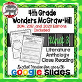 Wonders McGraw Hill 4th Grade Close Reading Literature Anthology Unit 3 DIGITAL