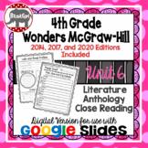 Wonders McGraw Hill 4th Grade Close Reading Literature Anthology Unit 6 DIGITAL