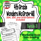Wonders McGraw Hill 4th Grade Close Reading (Workshop Book) - Complete Unit 3