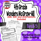 Wonders McGraw Hill 4th Grade Close Reading (Workshop Book) - Complete Unit 5