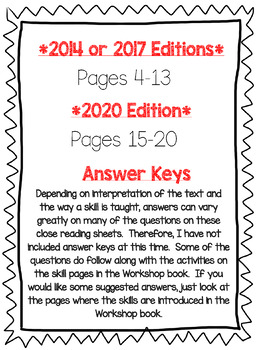 Wonders McGraw Hill 4th Grade Close Reading (Workshop Book) - Units 1-6 *Bundle*