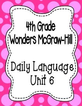 Wonders McGraw Hill 4th Grade Daily Language - Complete Un