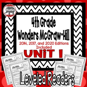 Wonders McGraw Hill 4th Grade Leveled Readers Thinkmark - Unit 1
