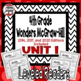 Wonders McGraw Hill 4th Grade Leveled Readers Thinkmark - Unit 1
