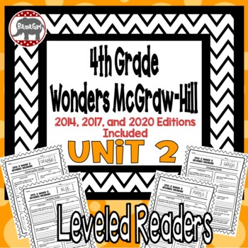 Wonders McGraw Hill 4th Grade Leveled Readers Thinkmark - Unit 2