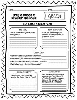 Wonders McGraw Hill 4th Grade Leveled Readers Thinkmark - Unit 3
